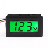 Digital Car Volt Tester DC 0-100V DC Voltage Monitor Meter 3-Wrie Green LCD Display