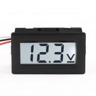 Digital Car Volt Tester DC 0-100V DC Voltage Monitor Meter 3-Wrie White LCD Display