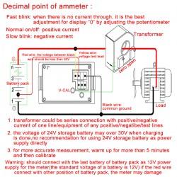 Micro Dual display Voltmeter Ammeter DC 0~100V/10A Voltage Meter Current Meter 2in1 Volt Amp Tester + Current Transformer