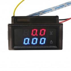 DC 0~600V/10A Digital Voltmeter Ammeter 2in1 Digital Multimeter Dual display Voltage Current Meter + Current Transformer