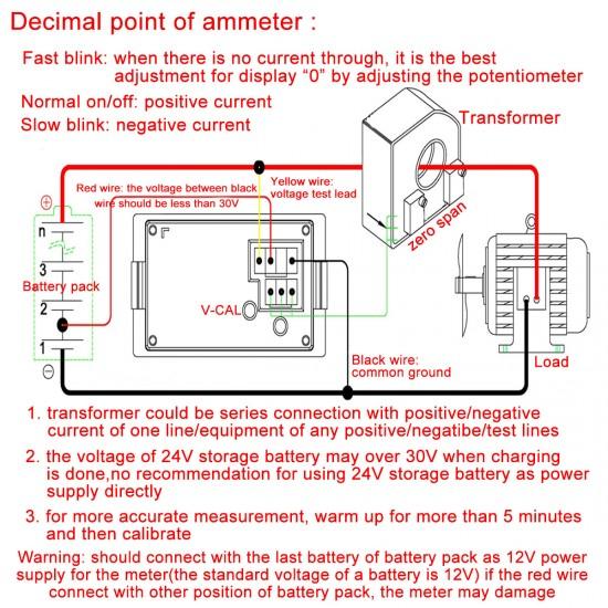 2in1 Digital Ampere Volt meter Multimeter DC 0~600V/50A Voltmeter Ammeter Dual display Voltage Current Meter+Current Transformer