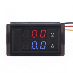 Mini Multimeter DC 0~600V/100A Digital Voltmeter Ammeter 2in1 Dual display Voltage Current Meter + Current Transformer