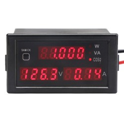 AC 80.0~300.0V/100A Digital Multimeter 5in1 Voltage/Current/Active Power/Reactive Power/Power Factor Monitor/Tester