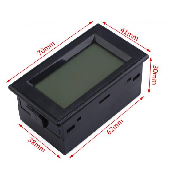AC Digital Ammeter AC 0~19.99A LCD Display Ampere meter AC80~500V Current Tester AC 110V/220V Current Monitor + Current Transformer
