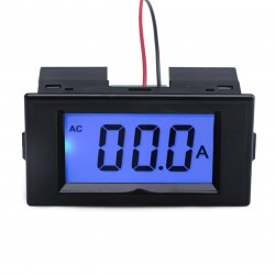 AC 0~50A Current Monitor LCD Display Digital Ammeter AC80~500V Current Tester AC 110V/220V Ampere meter + Current Transformer