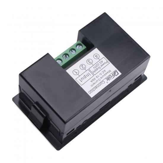 AC 0.1~20A LCD Display Digital Ammeter AC80~500V Ampere meter AC 110V/220V Current meter Monitor/Tester