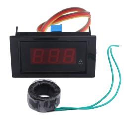 AC Ampere meter AC 100A Led Display Ammeter AC 80~500V/110V 220V Current Monitor meter/Current Meter + Current Transformer