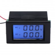 DC 0~200V/20A Voltage Current Monitor Lcd Dual Display Volt  Amp Tester 2in1 Digital Voltmeter Ammeter