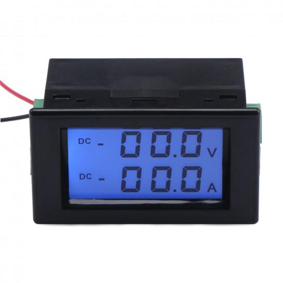 Digital Volt Amp Tester DC 0~200V/50A Lcd Display Voltage Current Meter 2in1 Voltmeter Ammeter