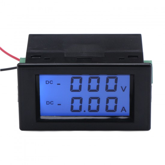 DC 0~600V/10A Volt Meter Ampere Meter 2in1 Voltage Current Monitor DC 110V/220V/380V/10A Digital Voltmeter Ammeter