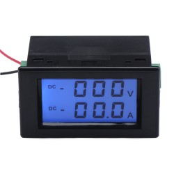 2in1 Ampere Meter Volt Gauge DC 0~600V/50A Digital Voltmeter Ammeter DC 110V/220V/380V/50A Voltage Current Tester