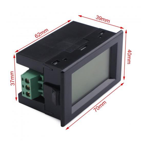 2in1 Ampere Meter Volt Gauge DC 0~600V/50A Digital Voltmeter Ammeter DC 110V/220V/380V/50A Voltage Current Tester