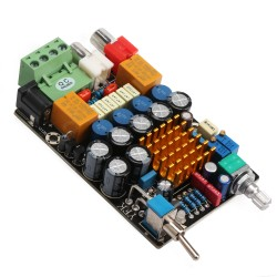 Audio Stereo Amplifier TA2021 DC 11-14.5V 50W Dual-Channels AMP Circuit Finished Board DIY HIFI Tone Adjustment Amplifier Board