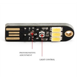 5 PCS/LOT Portable Night light DC 5V 150mA 6000k USB Power Automatic Light Control Night Light Energy-Saving Lamp for Home Decoration Camping Lights