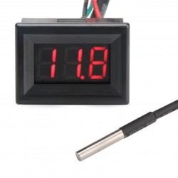 2in1 Digital Thermometer Voltmeter -10 ~ +170 Fahrenheit degree Temperature Meter DC 0~100V Voltage Meter DC 12V 24V Temperature Tester/Monitor Meter