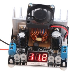 DC Buck Converter, 200W NC Power Supply Module/Adapter DC 6~40V to 0~38V 8A Buck Adjustable Voltage Regulator/Constant Volt Driver Module With Voltmeter/Fan