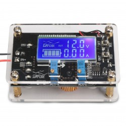 75W Power Supply Module/USB Charger DC 6~32V to 1.25~32V 5A Buck Converter Adjustable Voltage Regulator DC 12V 24V Adapter/Driver Module + Dual Display Digital Meter