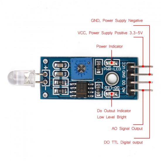 Photosensitive Module Photodiode Module Light Detection Brightness Detection (4 wire)