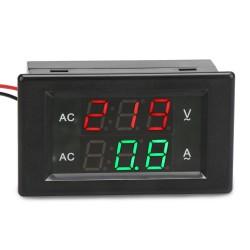 Digital Meter AC130~500V/200A  Led Dual Display Voltmeter Ammeter AC 220V 380V Digital Volt Ampere Meter 2in1 Tester  + Current Transformer