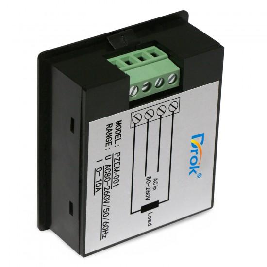 AC 80~260V/10A Digital Tester 4in1 Voltage/Current/Active power/Energy Display Digital Meter Multifunction Monitor Meter/Multimeter