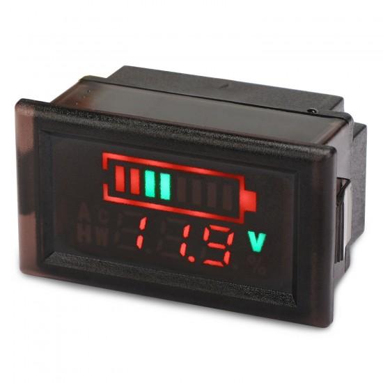 Digital Meter 12V Acid lead Batteries indicator Battery Capacity Digital LED Tester Voltmeter Adjustable Digital Panel Meter