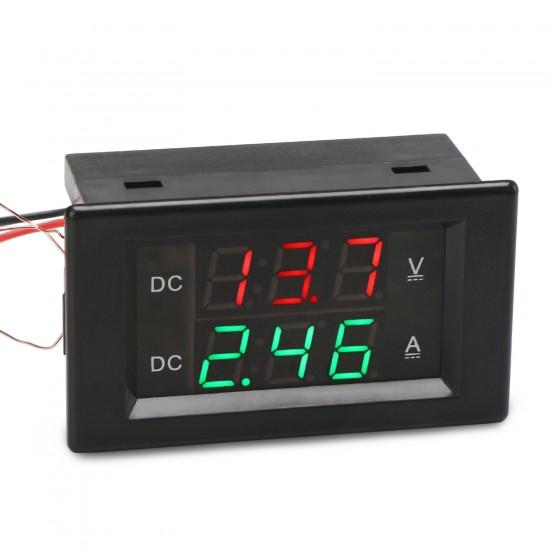 Digital Voltmeter Ammeter DC 0.0~300V/20A Led Dual Display Voltage/Current Meter DC 12V 24V Volt Ampere meter 2in1 Digital Tester
