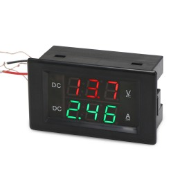 Digital Meter DC 0~600V/50A Voltmeter Ammeter DC 12V 24V  Led Dual Display Voltage Ampere meter 2in1 Digital Tester + 50A Shunt