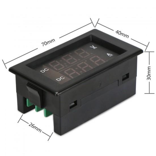 Digital Meter DC 0~600V/50A Voltmeter Ammeter DC 12V 24V  Led Dual Display Voltage Ampere meter 2in1 Digital Tester + 50A Shunt