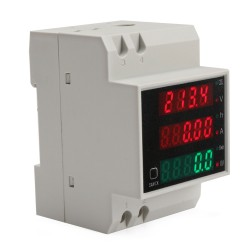 Din rail Power Monitor AC 80~300V/100A/3000W99999kwh Digital Voltage/Current/Power/Energy Meter 4in1 Digital Meter