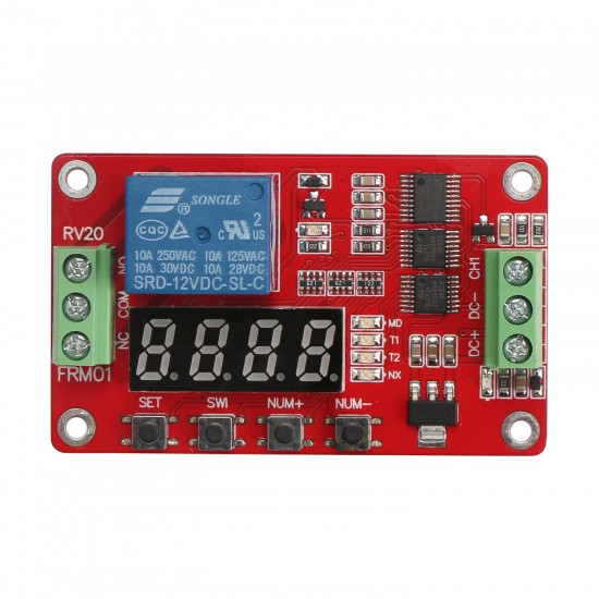 DC 12V 1 Channel Multifunction Relay Module Loop Delay / Timer Switch / Self-Locking PLC Automation Control Module