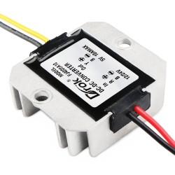 50W Power Adapter DC 8~40V 12V/24V to 5V 10A Buck Power Supply Module/Voltage Regulator/Car Converter/Driver Module for Car/Large trucks/Taxi/Bus etc