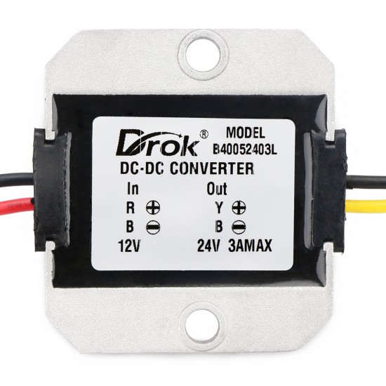 72W Boost Converter DC 10~20V to 24V 3A Voltage Regulator Power Supply Module/Adapter/Driver Module for Car/Large trucks/Taxi/Bus etc