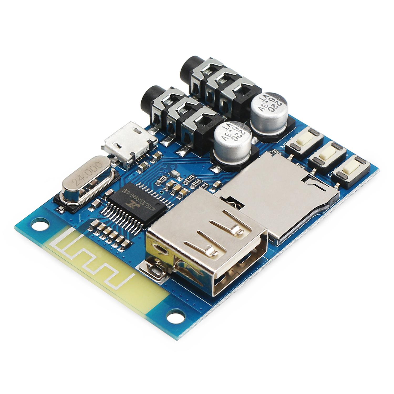Multifunction Bluetooth Audio Receiver DC 5V USB/TF/WMA