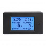 4in1 Voltmeter/Ammeter/Power Meter/Energy Meter DC 6.5~100V/20A/2000W/0~9999kWh LCD Display Blue backlight Digital Meter