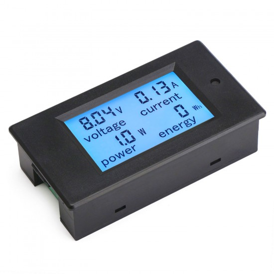 4in1 Voltmeter/Ammeter/Power Meter/Energy Meter DC 6.5~100V/20A/2000W/0~9999kWh LCD Display Blue backlight Digital Meter
