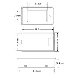 Digital Multimeter LCD Display Voltage/Current/Power/Energy Meter DC 6.5~100V/50A/5kW/9999kWh Digital Meter 4in1 LCD Display Combo Meter