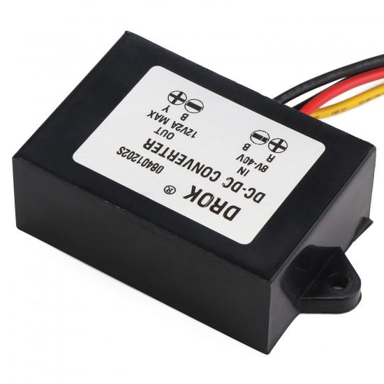 Auto Buck Boost Converter DC 12V/24V(8V~40V) to 12V 2A 24W Voltage Regulator/Adapter/Driver Module/Car Power Supply Module