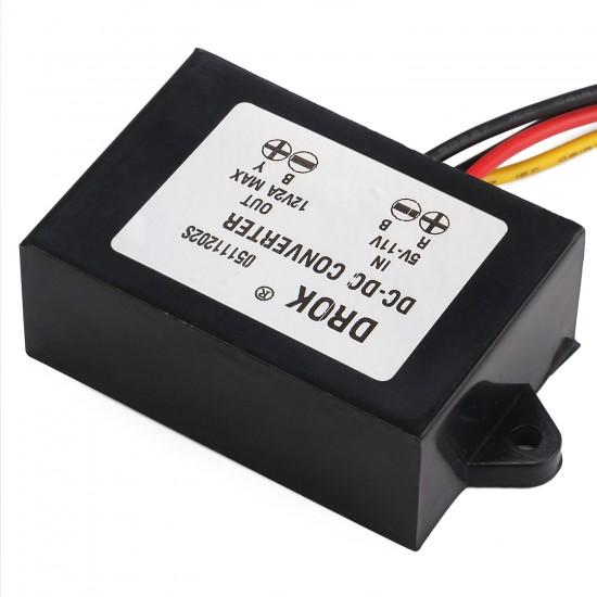 24W Boost Converter DC 5V~12V to 12V 2A Power Supply Module/Voltage Regulator/Car Adapter/Driver Module