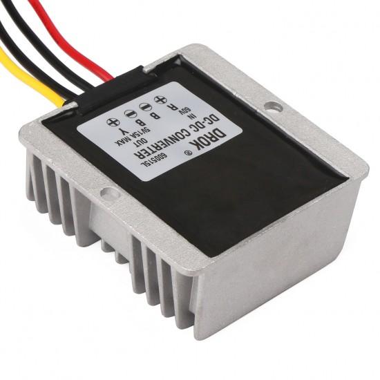 75W Buck Converter/Car Adapter DC 60V(8V~75V) to 5V 15A Step Down Voltage RegulatorPower Supply Module/Driver Module Waterproof