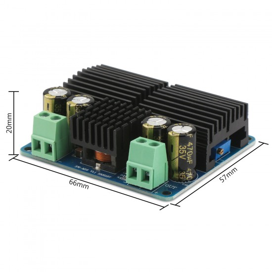 100W DC Boost Converter,  High Power Converter DC 10~32V to 15~35V 6A Boost Power Supply Module/Adjustable Voltage Regulator DC 12V 24V Adapter