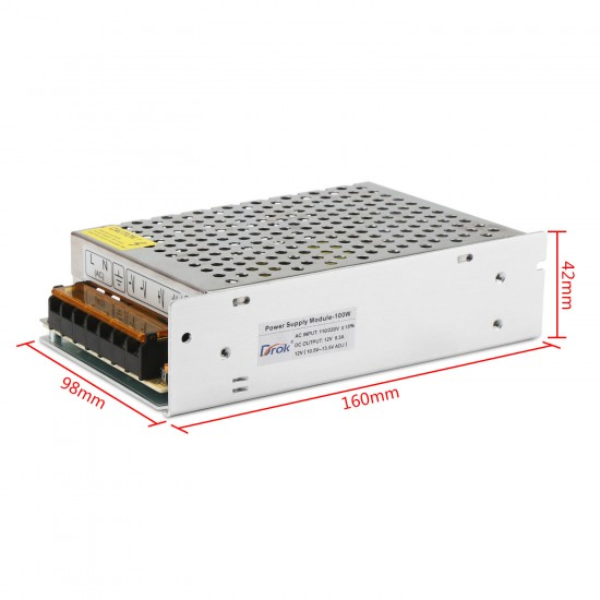 100W AC Power Supply, Switching AC110~220V to DC 12V 8.5A Buck Converter/Voltage Regulator DC 12V Adapter/Power Supply Module/Driver Module