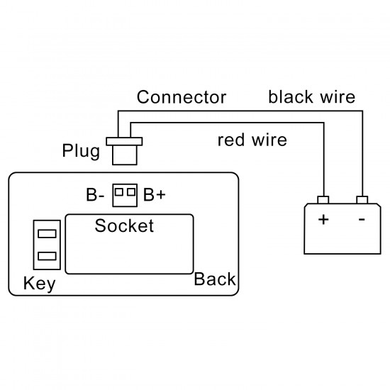 Digital Meter DC 12V/24V/36V/48V Battery Capacity Monitor/Lead-acid Li Battery Capacity Indicator Tester/Panel Meter