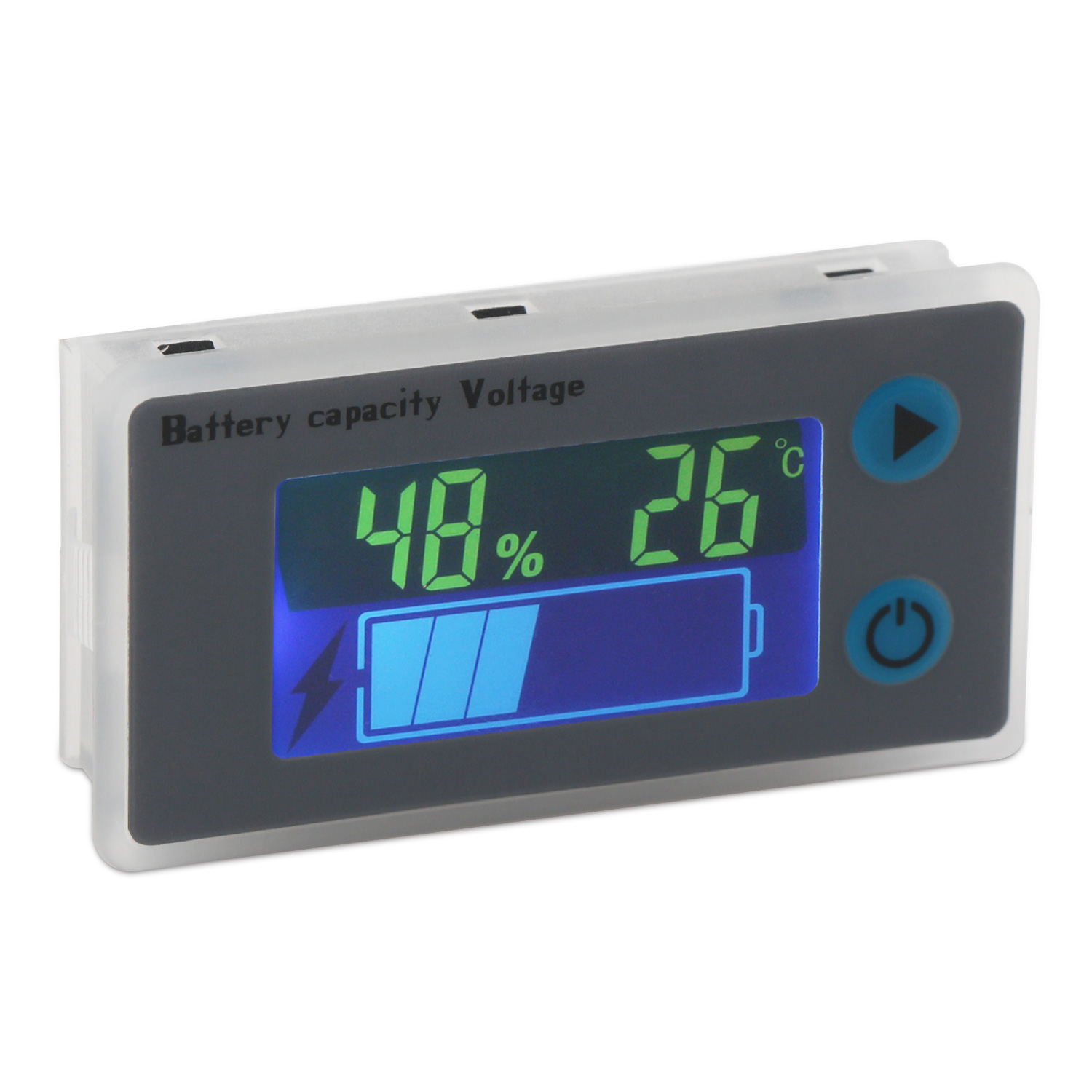 LCD Display Battery Capacity Indicator Universal Voltmeter Voltage Tester Monito