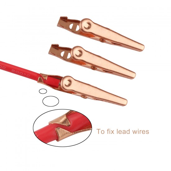 4 PCS/LOT 10A Alligator Clips Crocodile Clamps Pure Copper Clip Clamp Electric Test helper with Protective Insulation Cover