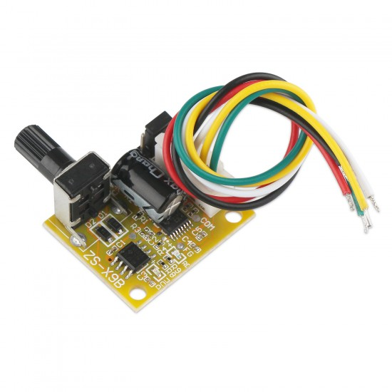 15W Brushless Motor Driver,  DC 5~12V 1.5A Three-phase Brushless Sensored Controller BLDC Speed Control switch for Motor/Hard etc