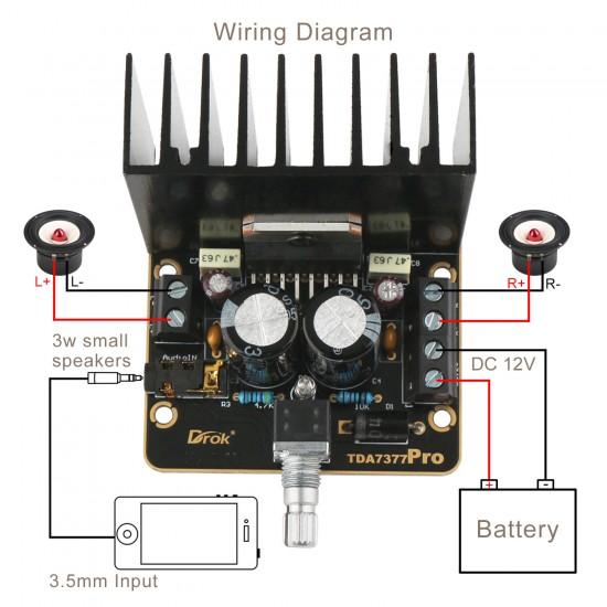 Audio Board 2 x 30W Dual-channel Car Amplifier DC 9~15V 12V Digital Amplifier/Power Amplifier for Car/Mobile Phone/laptop etc