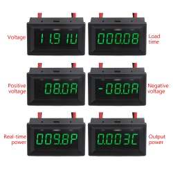 Digital Tester 4 in 1 Voltmeter/Ammeter/Power Meter/Capacity Meter DC 12V Battery Protector/Detecter + Battery Over/lower voltage alarm