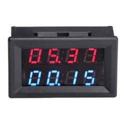 Digital Tester DC0~100V/20A Dual Display Voltmeter Ammeter DC 12V 24V Positive and Negative Monitor Panel Meter + 20A Shunt
