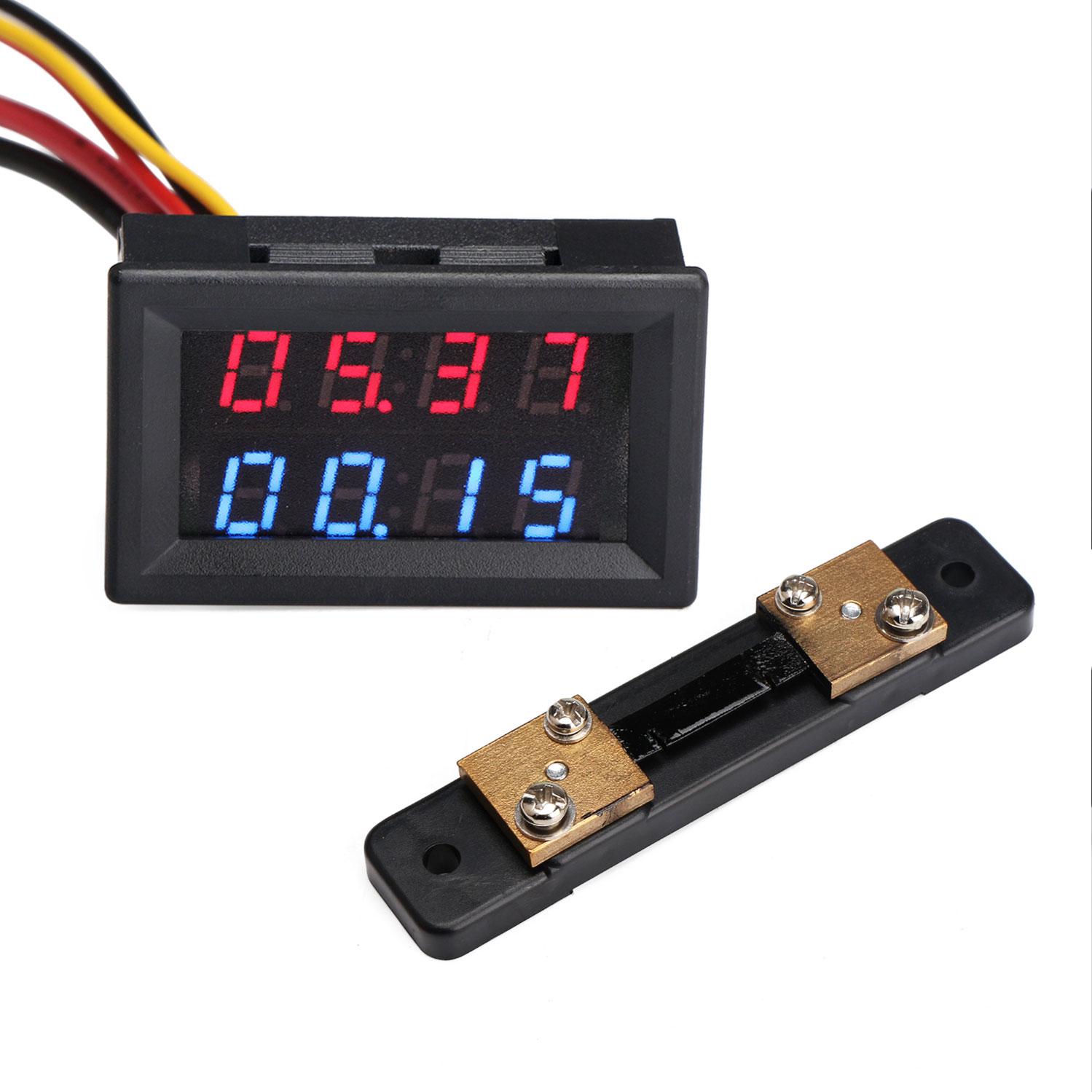 CrocSee DC 0~300V Digital Voltmeter and DC 0-10A Digital Ammeter