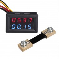 2in1 Digital Voltmeter Ammeter DC 0~100V/100A Dual Display Voltage Current Meter  DC 12V 24V Digital Meter/Tester + 100A Shunt